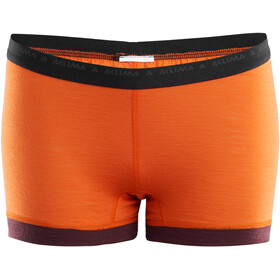 Aclima LightWool Shorty Femme, orange popsicle/bitter chocolate